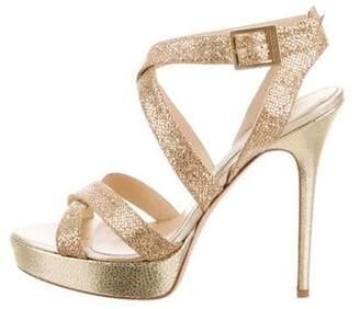 Jimmy Choo Glitter Platform Sandals