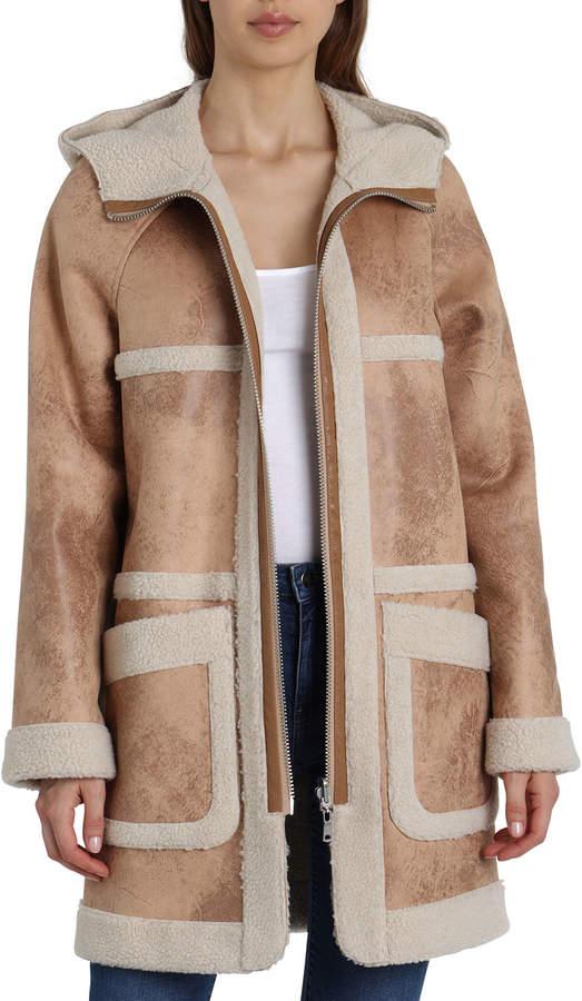 Reversible Sherpa Hooded Coat