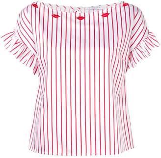 Vivetta short-sleeve striped blouse