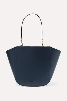 Mansur Gavriel Ocean Mini Leather Tote - Navy