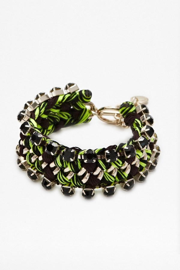 French Connection Lux Chunky Woven Bracelet