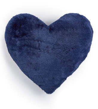 "Martha Stewart Collection Whim by Collection Faux-Fur Heart 15"" x 17"" Decorative Pillow, Created for Macy's Bedding"