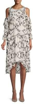 Joie Ruffled Silk Blouson Dress