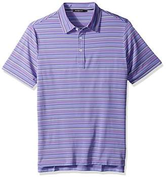 Bugatchi Men's Traditional Four Button Performance Polo Shirt