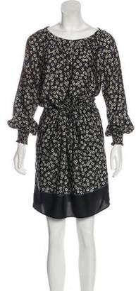 Gerard Darel Long Sleeve Floral Print Dress