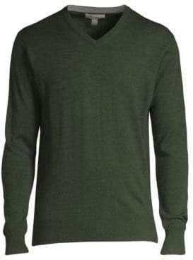 Peter Millar Merino Wool& Silk V-Neck Sweater
