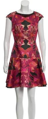 Ted Baker Floral Print Sleeveless Mini Dress