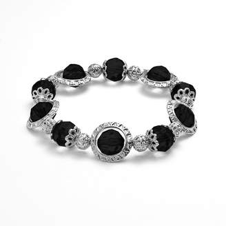 1928 Orbital Faceted Bead Stretch Bracelet