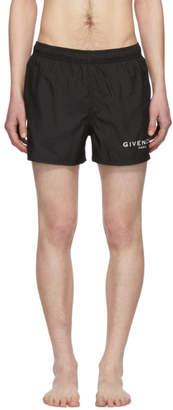 Givenchy Black Logo Swim Shorts