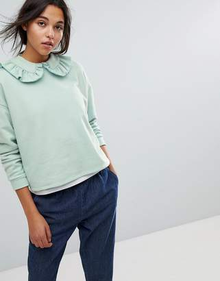 Max & Co. Max&Co Ruffle Sweatshirt