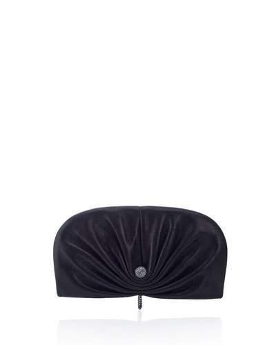 Jimmy ChooJimmy Choo Vivien Shimmer Evening Clutch Bag, Black