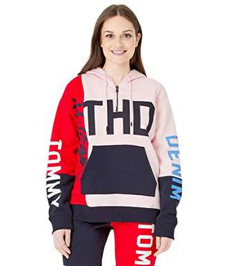 Tommy Hilfiger Adaptive Women's Hoodie Sweatshirt with Extended Zipper Pull