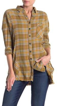 Free People Juniper Ridge Plaid Herringbone Shirt