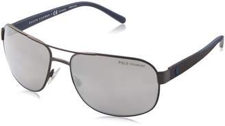 Polo Ralph Lauren Men's Metal Man Polarized Aviator Sunglasses