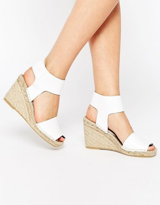 Bronx Espadrille Wedge Leather Sandals $68 thestylecure.com