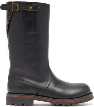 Ann Demeulemeester Leather Biker Boots - Womens - Black