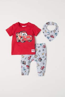 H&M Printed Jersey Set - Red
