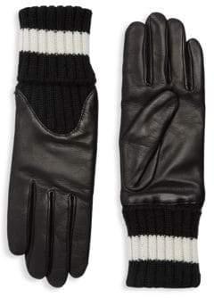 Agnelle Cecelia Sport Leather Knit Gloves