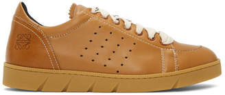 Loewe Tan Leather Sneakers