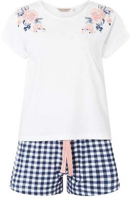 Dorothy Perkins Womens Gingham Jersey Short Pyjama Set