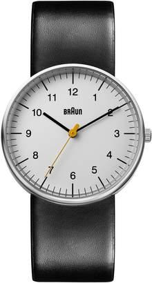 Braun 'Classic' Leather Strap Watch, 38mm