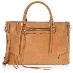Rebecca Minkoff Regan Pebbled Leather Satchel Tote