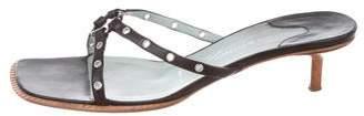 Sigerson Morrison Leather Slide Sandals