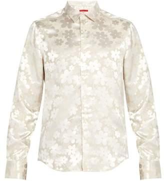 Eckhaus Latta Floral Jacquard Shirt - Mens - Ivory