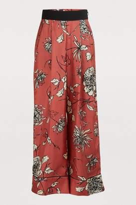 Moncler Printed silk pants
