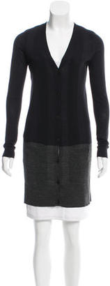 Vera Wang Wool Two-Tone Cardigan $95 thestylecure.com