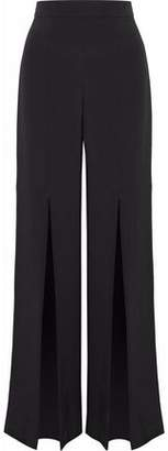 Cushnie et Ochs Split-Front Silk Crepe De Chine Wide-Leg Pants