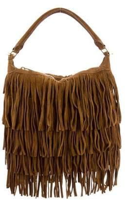 Saint Laurent Fringe Suede Crossbody Bag