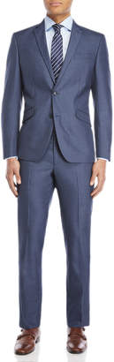 Kenneth Cole Reaction Two-Piece Striated Blue Ready Flex Suit