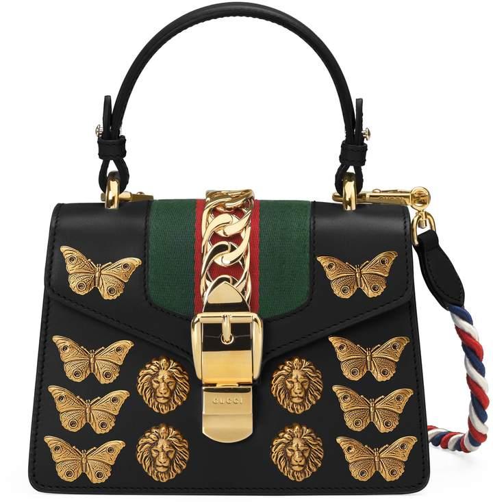Sylvie animal studs leather mini bag