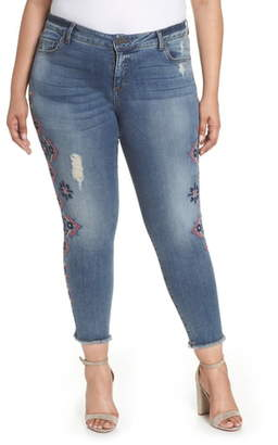 KUT from the Kloth Embroidered Skinny Jeans