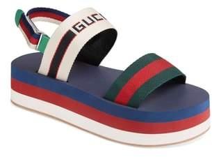 Gucci Slingback Flatform Sandal