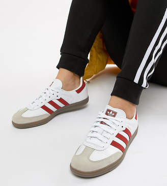 adidas Samba Og Trainers In White And Red