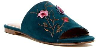 Nanette Lepore NANETTE Valentina Embroidered Slide Sandal