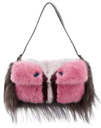 Fendi Mink Fur Monster Baguette
