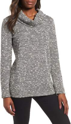 Chaus Metallic Thread Detail Cowl Neck Sweater