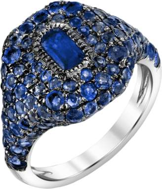 Shay Jewelry Pave Sapphire Pinky Ring