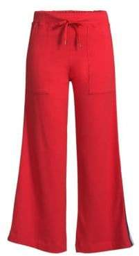 Sundry Striped Flare Crop Pants