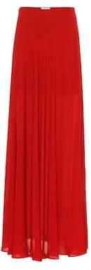 Elie Saab Silk maxi skirt