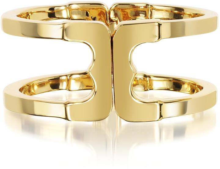Tory BurchTory Burch Core Gemini Gold Tone Metal Cuff