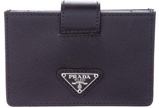 prada Prada Saffiano Accordion Card Holder