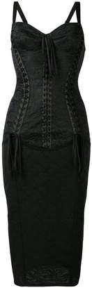 Dolce & Gabbana corset midi dress