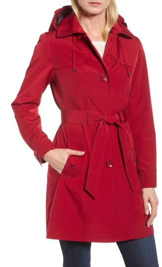 Belted Trench Raincoat