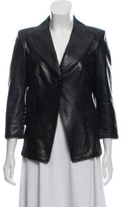 Antonio Berardi Peak-Lapel Leather Jacket