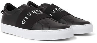Givenchy Urban Street Logo-print Leather Slip-on Sneakers - Black