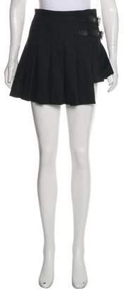 Dolce & Gabbana Wool-Blend Pleated Mini Skirt
